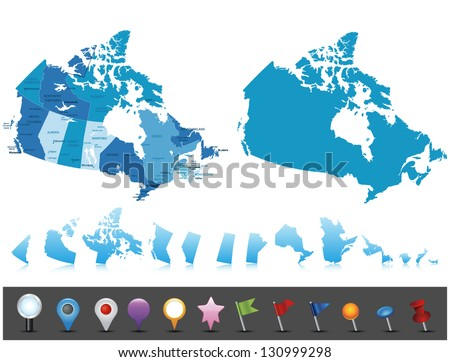 canada   highly detailed map