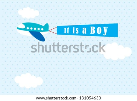it is a boy announcement tag