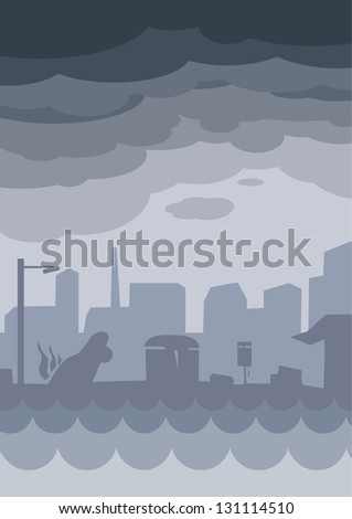 flood vector background