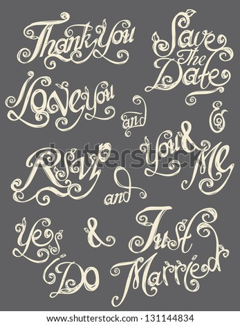 hand drawn text lettering