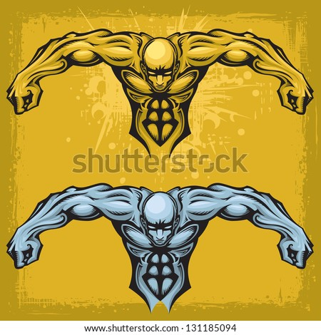 strong stylized male vector