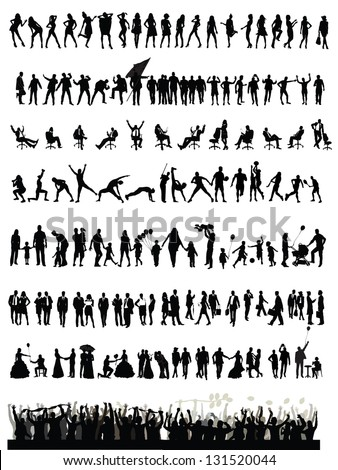 Party People Silhouette Vector Free Download 12488 For Commercial Use Format Ai Eps Cdr Svg Illustration Graphic Art