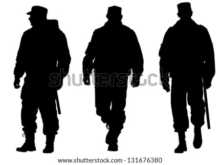 vector image of police in form
