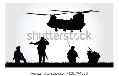 a group of soldiers with a
