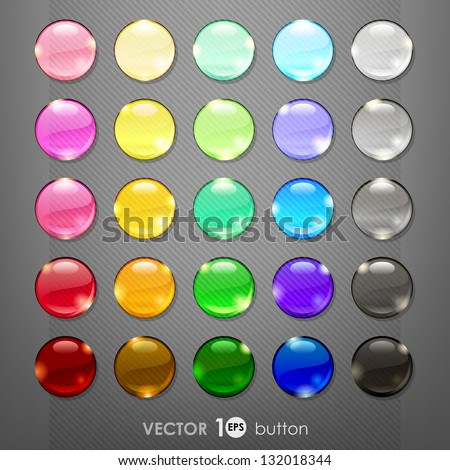 set of blank web buttons for