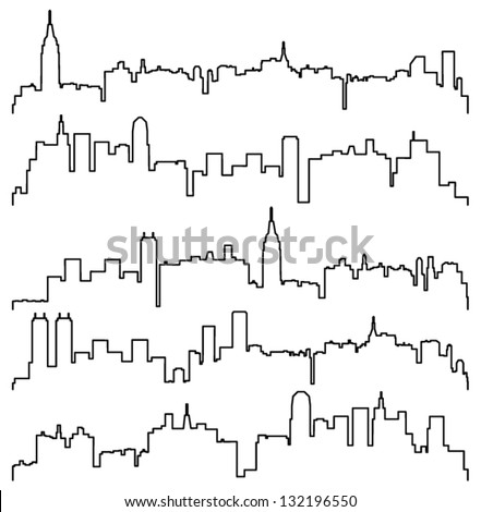 vector city contours of