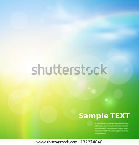 green  sunny natural