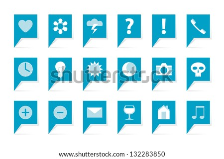 labels with symbols  18 blue