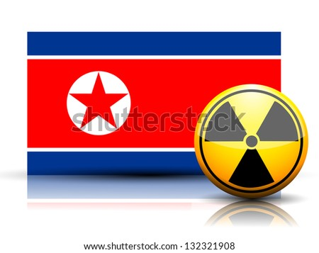 north korea nuclear flag