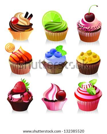 delicious yummy cupcakes