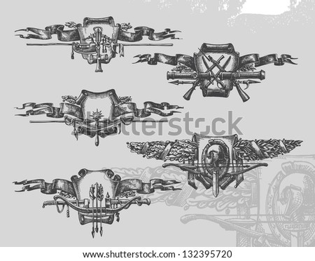 heraldry vector illustration