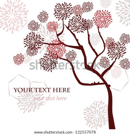 stylized vector tree  asian