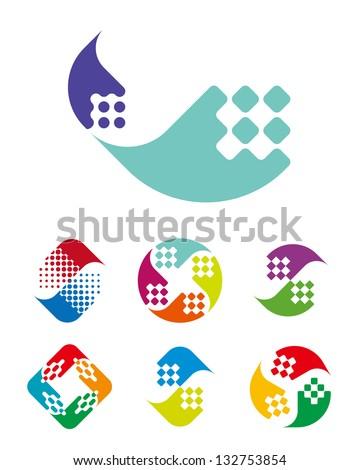 design wave logo element