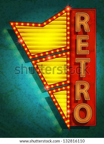 retro icon   signboard   vector