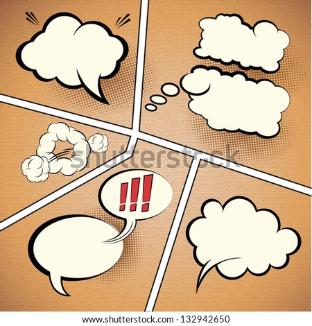comic strip speech bubbles on