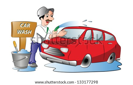 Man washing car free vector download (3,995 Free vector) for ...