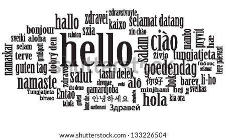 hello speech cloud in languages
