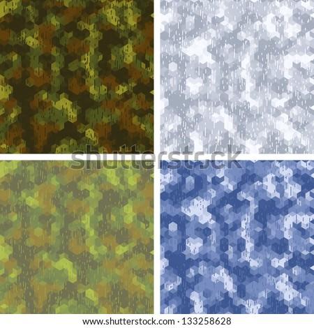 seamless stylized camouflage