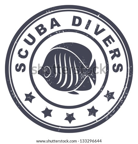scuba divers stamp