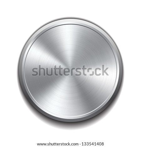 realistic metal button with