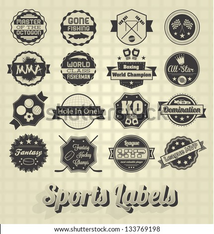 vector set  vintage sports