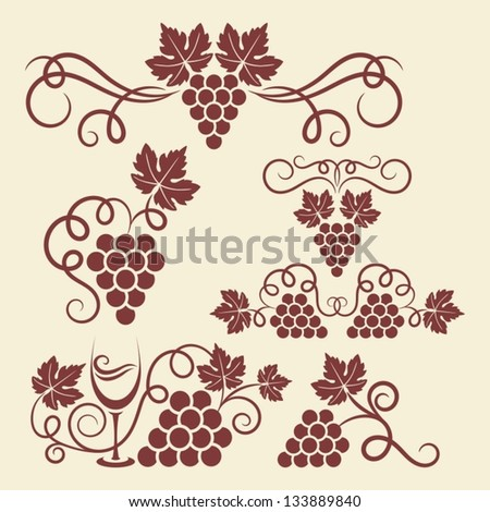 decorative grape vine elements