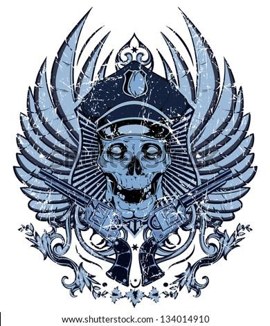 policeman skull   also