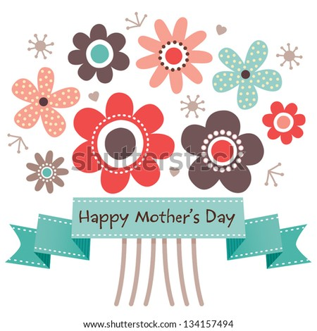 vector mothers day card with
