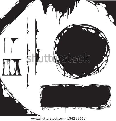 creepy slime halloween design