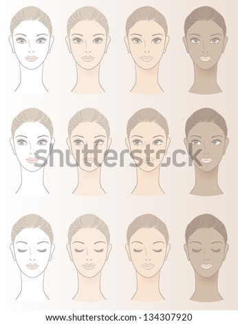 chart of beautiful woman