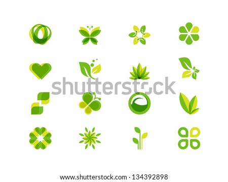 ecology leaves and symbols