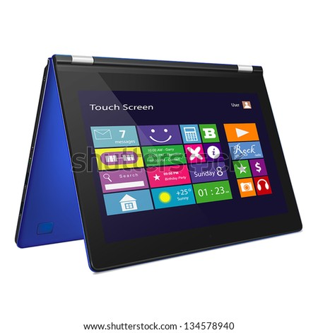 blue slim convertible laptop
