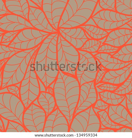 doodle chestnut leaves seamless