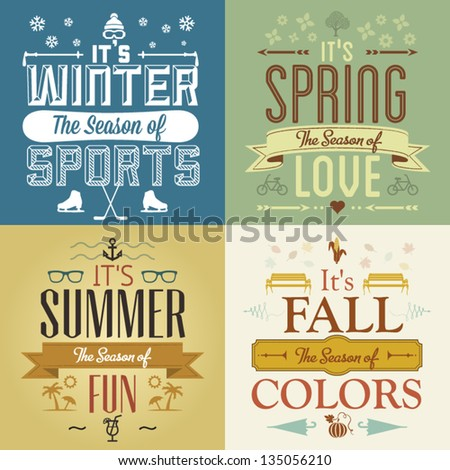 four seasons graphic