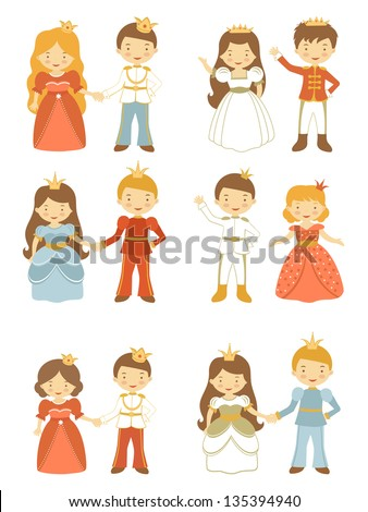 colorful set of royal couples