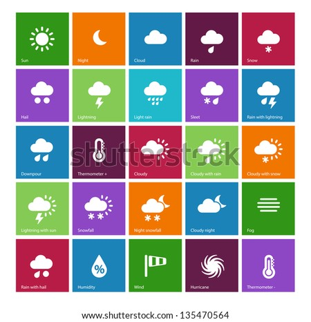 weather icons on color