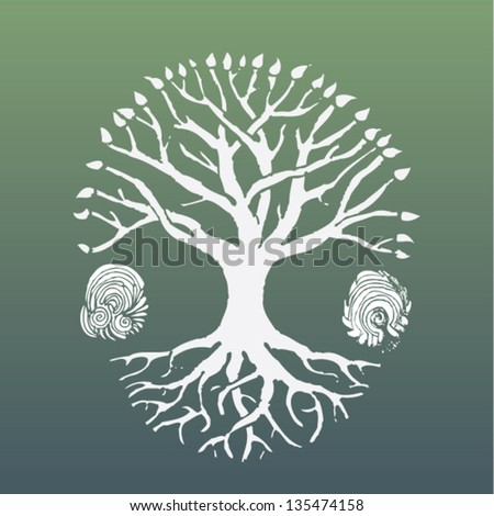symbolic white tree crest