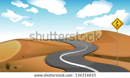 illustration of a narrow road