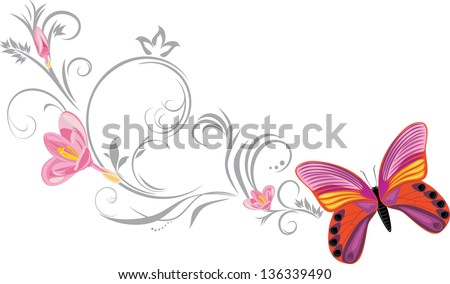 bright butterfly with a