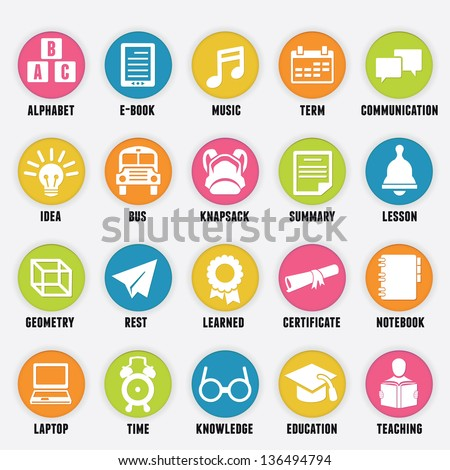 set of education icons   part 2