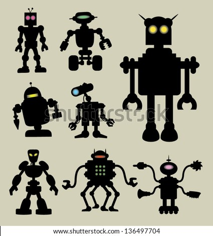 robot silhouettes 1 smooth and