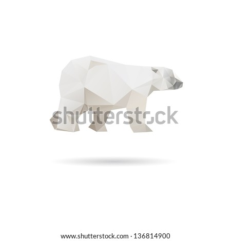 abstract bear isolated on a