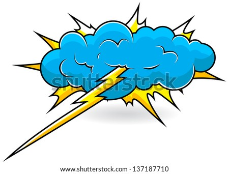 comic explosion cloud vector