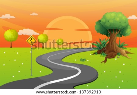 illustration of a winding road