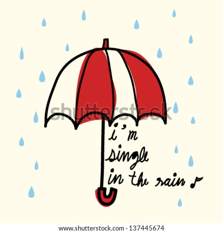 single in the rain   vector