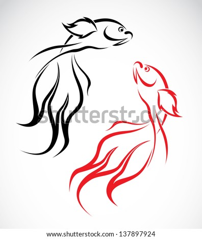 vector image of an goldfish on