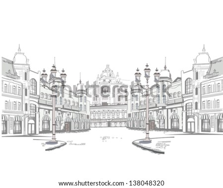 series of street views in the