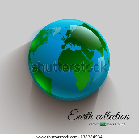 globe 3d imitation icon with