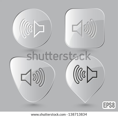 loudspeaker glass buttons