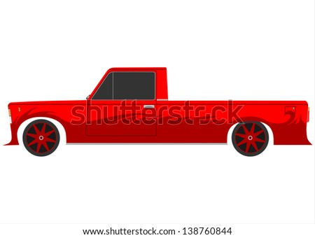 red retro lowrider vector